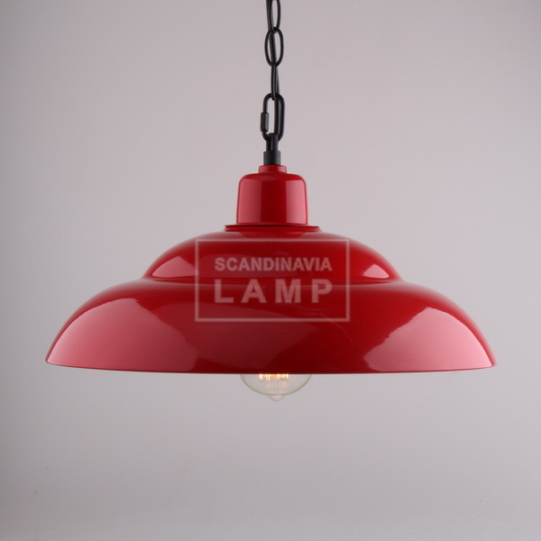 Industrial Filament pendant red