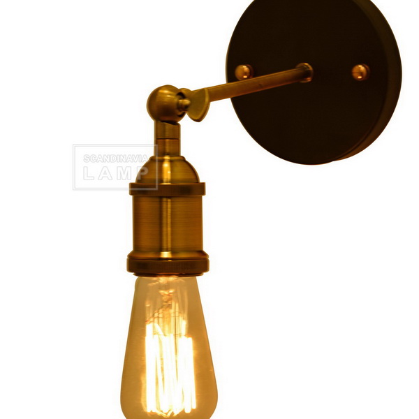 Filament Bulb Sconce Polished Nickel