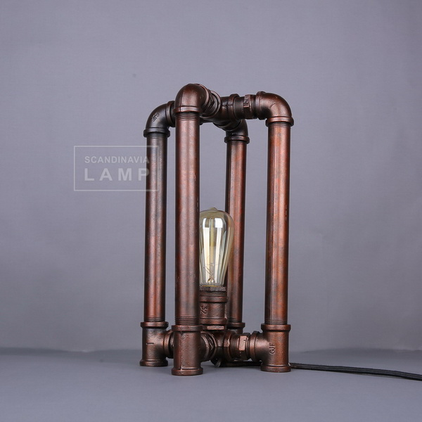 Loft Amercian industrial water pipe table lamp