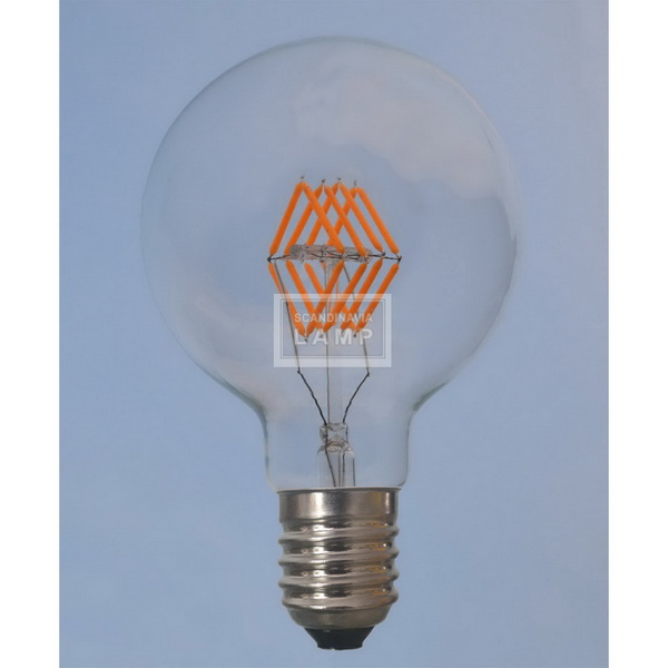 G125 360 degrees edison style 4W 6W 8W A19 E27 led filament bulb dimmable
