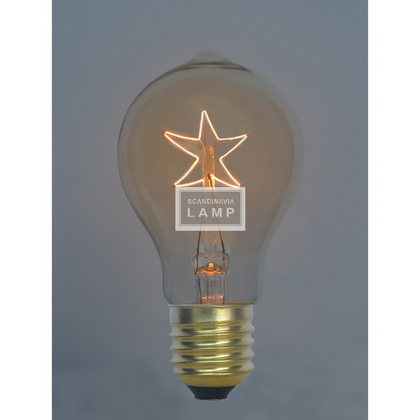 Vintage edison bulb|Filament lamp A195|American industrial lighting