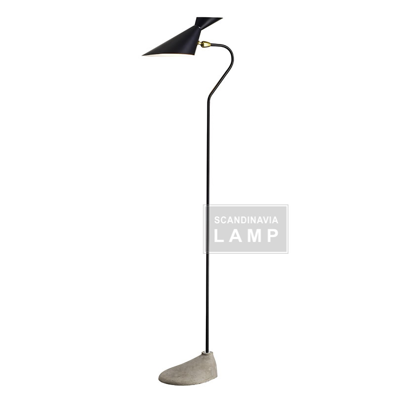 2017 new design modern lamp makalong concrete floor lamp