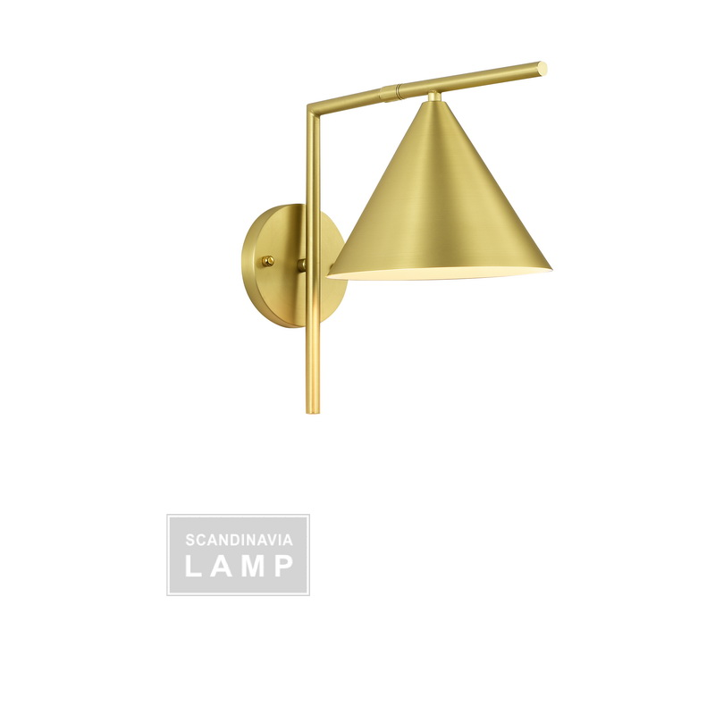 FLos Isaac Sconce Brass
