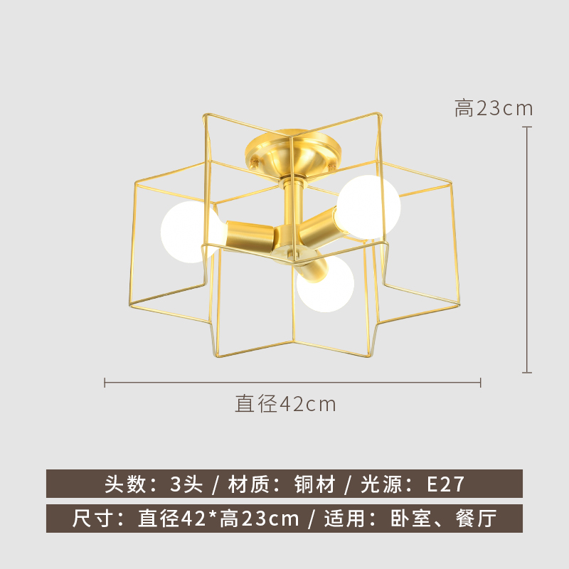 difference size of brass ceiling lamp